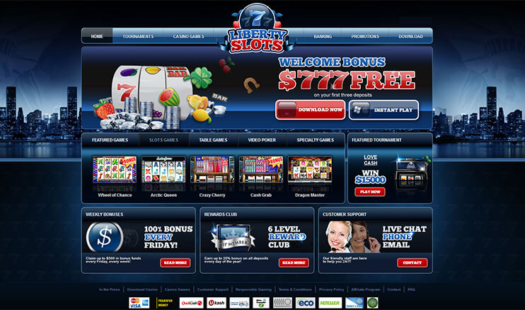 instant play liberty casino