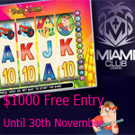 Miami Club $15K Thanksgiving Slots Tourney