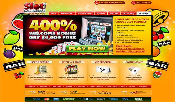 Slot madness casino eksklusive