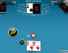 New Zappit Blackjack at Bovada Casino